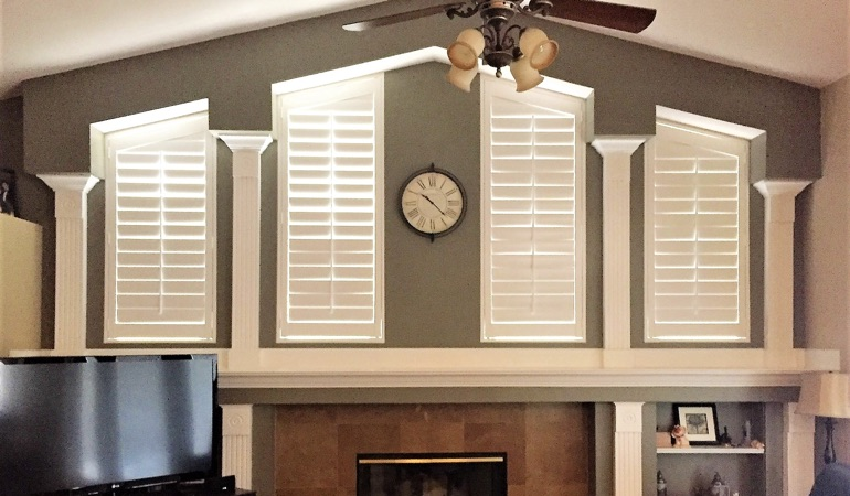 Polywood Shutters in Family Room in Las Vegas